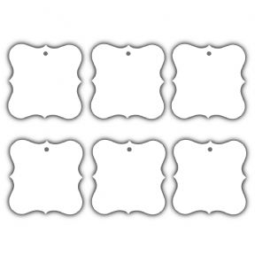 100 x White Designer Plate Tags, Wish Tree, Wedding, Birthday Tags. UK Card Crafts